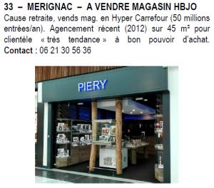 merignac a vendre magasin hbjo le bijoutier international. Black Bedroom Furniture Sets. Home Design Ideas