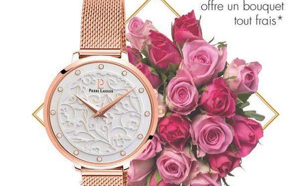 L'horloger français PIERRE LANNIER et le fleuriste AQUARELLE célèbre les mamans !!