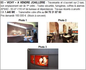 03 – VICHY – A VENDRE TRES BELLE JOAILLERIE