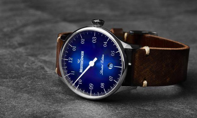 Pangaea Date, créée spécialement pour la France, par la marque horlogère allemande MEISTERSINGER
